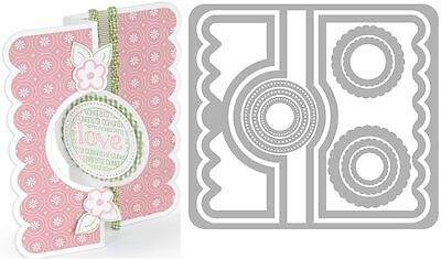 Sizzix Thin Framelits Die Set ~Circle Flip-Its #2 Card Code 559171 11Pk (Special