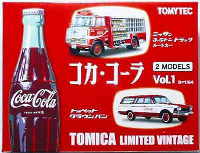 Tomytec Tomica Limited Vintage Coca Cola Coke Delivery Truck 2 Models Vol.1 Set