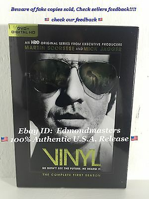 Vinyl The Complete First Season 2016 Dvd+Digital Hd Brand New Sealed Hbo Series
