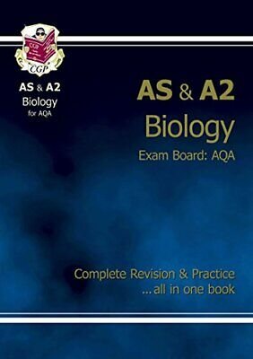 AS/A2 Level Biology AQA Complete Revision & Practice, CGP Books Paperback Book