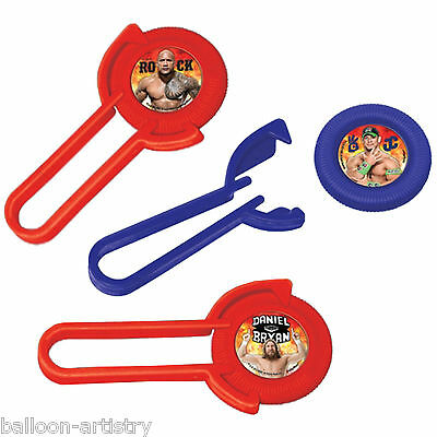 12 WWE Wrestling Champions Children's Party Loot Toys Gift Favour Disc Shooters