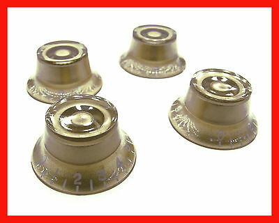 Top Hat/bell Gibson Style Speed Control Knob Gold Electric Guitar Les Paul