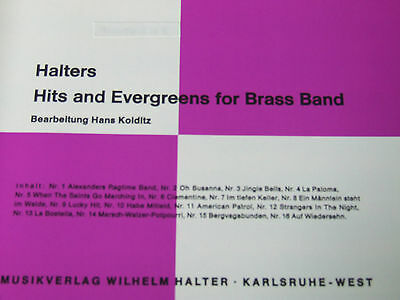Halters Hits and Evergreens for Brass Band Heft 1 Schlagzeug