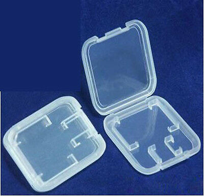 200PCS MMC TF Micro SD Memory Card Protection Plastic Thick RS Cases Boxs
