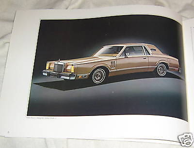 '80 Lincoln Continental Mark VI Brochure,20 pages 9' by 12' Near mint condition