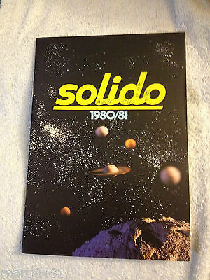 1980-81 Solido Toy Catalogue, 1/43 scale, English/French, Printed in France