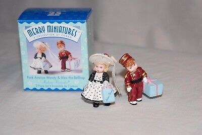 Park Avenue Wendy & Alex the Bellhop. 2 piece Set, Keepsake Ornaments with box
