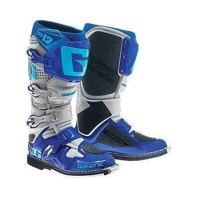 Gaerne Blue Gray SG-12 SG12 Men's Size 12 Offroad MX Boots 2174-033-012