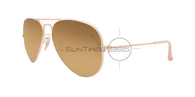 RAY BAN AVIATOR GRADIENT RB3025 112/M2 58 Gold / Light Brown Gradient Polarized