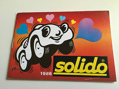 1986 Solido Collector's Catalogue, Printed in France
