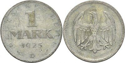1 Mark 1925 D Weimarer Republik, Adler #N327