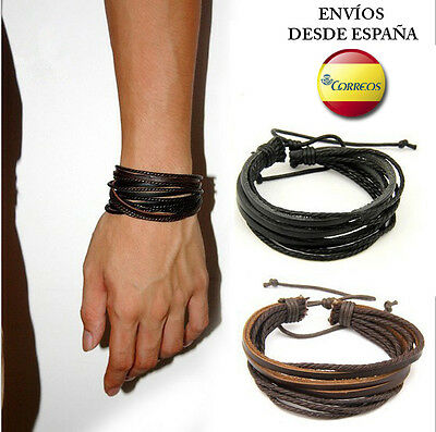 Pulsera de cuero ajustable Bloom