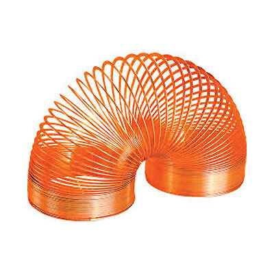 *NEW IN BOX* THE POOF METAL SLINKY - WALKING SPRING TOY - Orange
