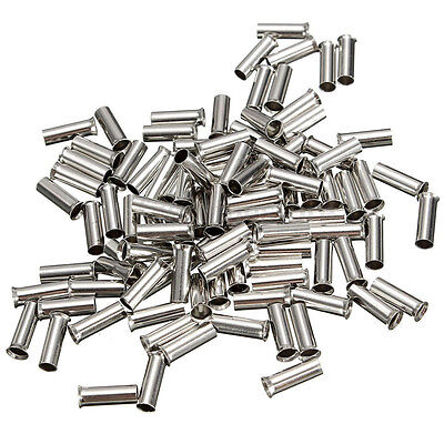 100pcs Uninsulated Bootlace Ferrules Cord End Terminal Crimps 0.5mm² to 16mm²