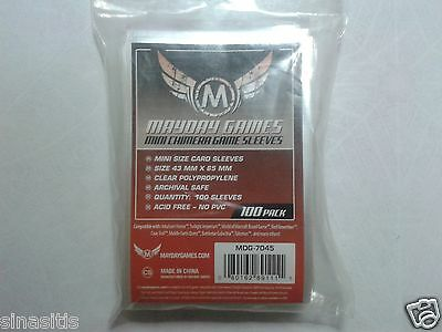100 Mini Chimera Card Sleeves 43mm X 65mm by Mayday Games