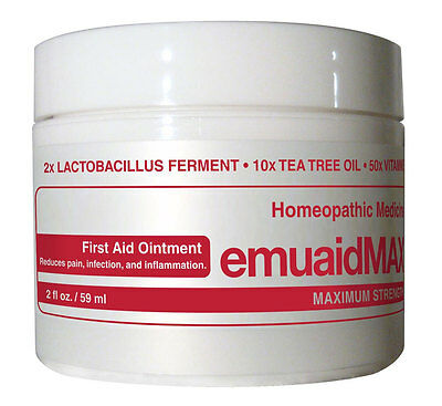 Emuaid Max First Aid Homeopathic Ointment heals & calms over 120 skin issues 2oz