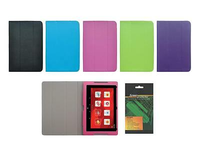 Folio Skin Cover Case and Screen Protector for Fuhu Nabi Elev-8 Tablet