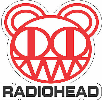 "Radiohead Music bumper sticker, wall decor, vinyl decal, 5""x 5"""