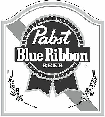 "Pabst Blue Ribbon Beer Alcohol  Bumper sticker, wall , vinyl, bumper 5""x 4.5"""