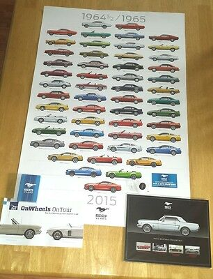 1965 2015 Ford Mustang 50th Anniversary Poster Collector Kit