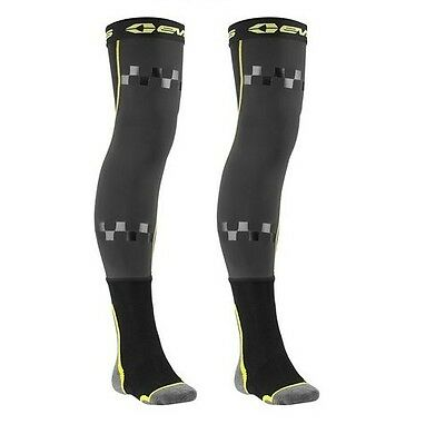 New Evs Fusion Mx Dirt Bike Offroad Knee Brace Socks Black (Pair) All Sizes