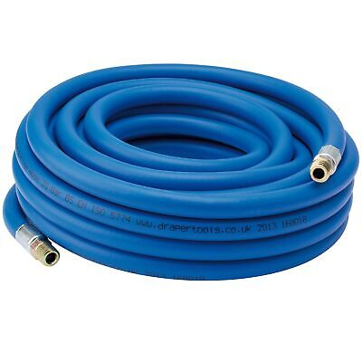 "Draper Tools / Workshop 10m 1/4"" BSP 8mm Bore PVC Air Line Hose - 38331"