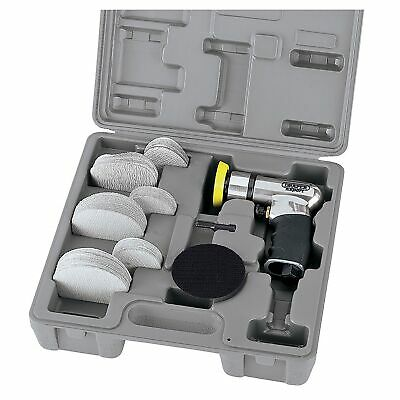 Draper Tools Expert 50/75mm Compact Dual Action Soft Grip Air Sander Kit - 47617
