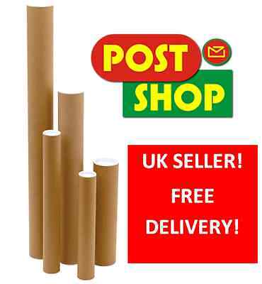 A1 A2 A3 A4 Postal Tubes Packing Tubes + End Caps Many Sizes Poster Tubes x25