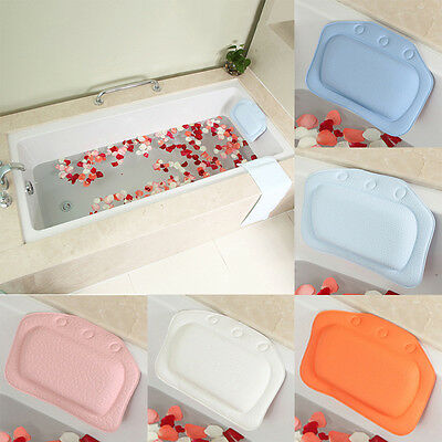 New PVC Bath Spa Bathtub Pillow With Suction Cups For Bathroom Relax Comfortable