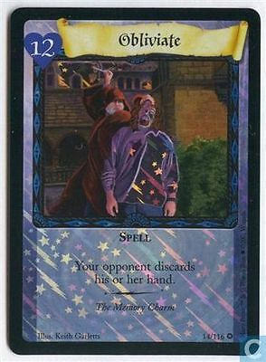 Harry Potter TCG Base Set Obliviate FOIL 14/116