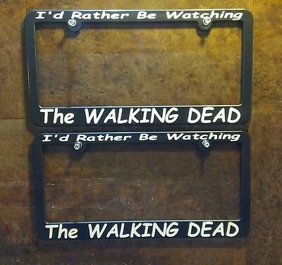 2 The Walking Dead License Plate Frames Daryl Dixon Norman Reedus