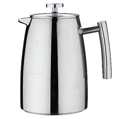 Grunwerg 3 Cup Double Wall Cafetiere French Press Coffee Pot Maker Plunger Jug