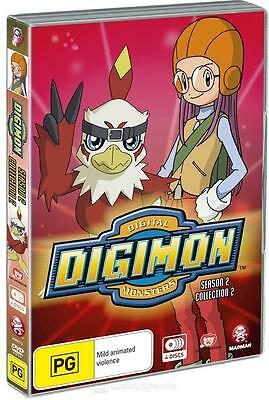 A16 BRAND NEW SEALED Digimon Digital Monsters Season 2 Collection 2 (4 DVD Set)