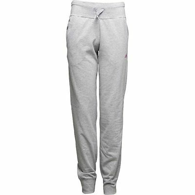 Girls Adidas Jersey Jogging Bottoms Pants Grey 5-6 Years NEW