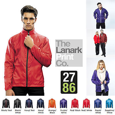 2786 Adults Contract Lightweight Jacket Fold Away Wind Shower Resistant Full Zip