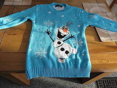 Alessandra Saroshi  Frozen Olaf Snowman Jumper Blue chest  28 inches New