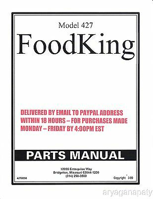 Polyvend 427 parts manual (84 Pages) PDF sent by email