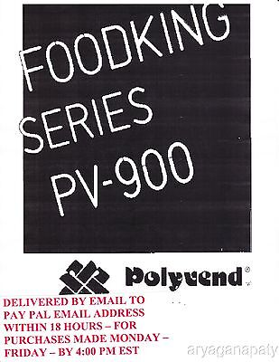Polyvend food PV-900  (108 pages) PDF sent by email