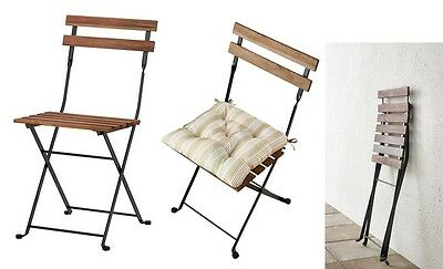 Garden Patio Chair Folding Wooden Metal with or without Cushion Foldable Steel