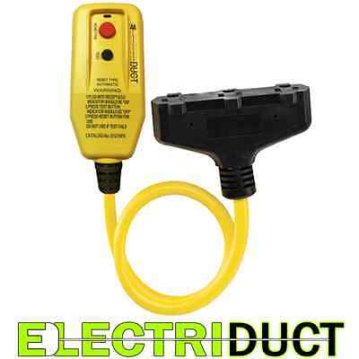 GFCI Inline with 2 FT Triple Tap Cord - Electriduct