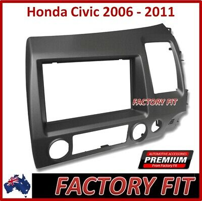 .Fascia Stereo Surround For Honda Civic Double-din Radio Adapter Dash Panel Trim