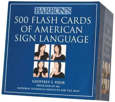 Barron's 500 Flash Cards Of American Sign Language - Poor, Geoffrey S. - New Pap