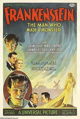 Home Wall Art Print - Vintage Movie Film Poster - FRANKENSTEIN - A4,A3,A2,A1