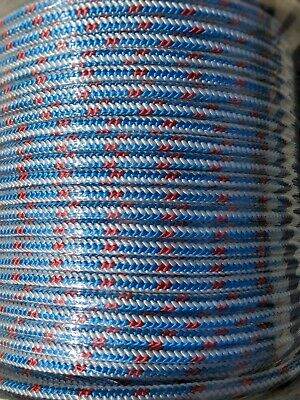 "1/2"" x 600' Arborist tree climbing rope 16 strand braided"