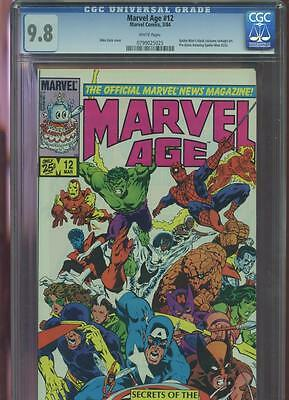 1984 Marvel Age News Magazine Comics Secret Wars Spider-Man #12 CGC 9.8 Book