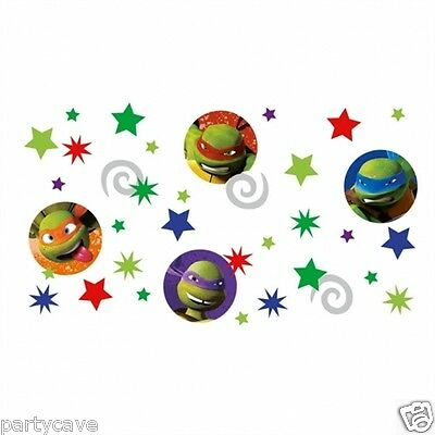3 Teenage Mutant Ninja Turtles Party Sprinkle Table Confetti Banner Decoration