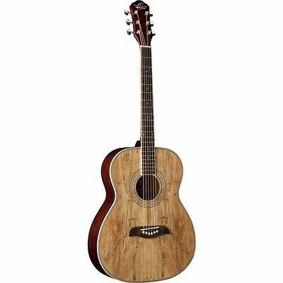 New Oscar Schmidt OF2SM Acoustic Folk Guitar, Spalted Maple + Free Shipping