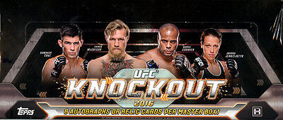 2016 Topps Ufc Knockout Mma Hobby Box New Factory Sealed