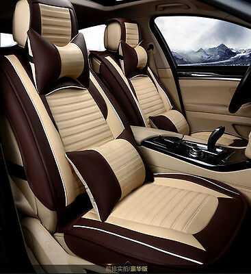 Universal PU Leather Car Seat Covers Car Cushion Cover 10pcs/set Size XL
