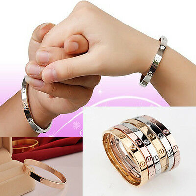 Wholesale  Lady/mens Jewelry Love 925 Sterling Silver Bangle Bracelet Chain+Bag
